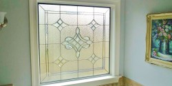 Kansas city stained glass bathroom-bevel-glass